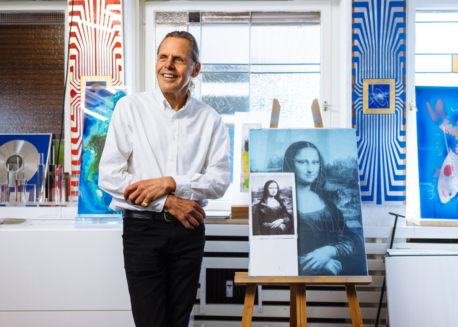 Emil Schult, Artist, Kraftwerk, Düsseldorf, Portrait by Felix Gemein.