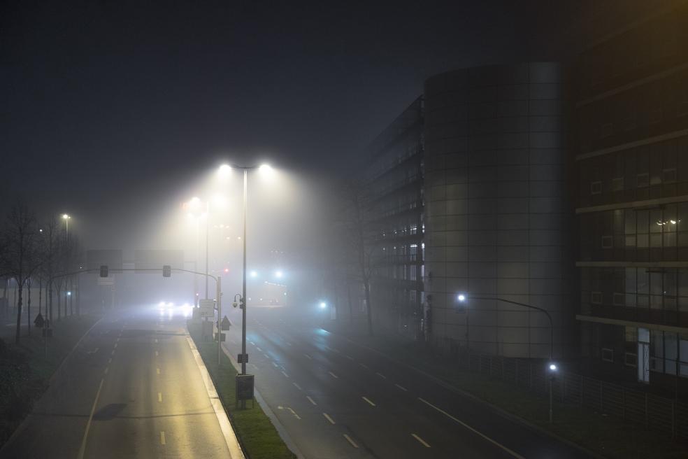 Silvester. Neujahr. Nebel in Düsseldorf. Fotograf Düsseldorf. Reportage